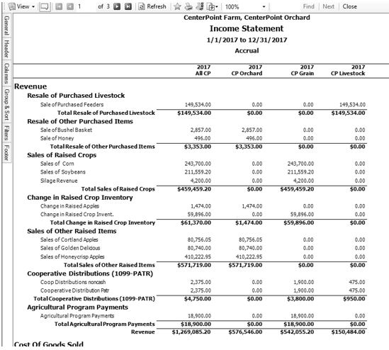Income Statement   Centerpoint Accounting For Agriculture Understanding And Modifying