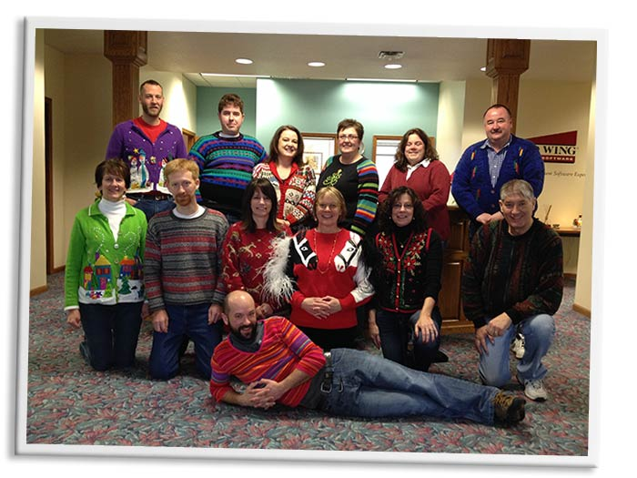 Red Wing Software first annual ugly sweater contest